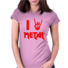 I Heart Metal Womens Fitted T-Shirt