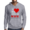 I Heart My Awesome Wife Mens Hoodie