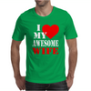 I Heart My Awesome Wife Mens T-Shirt