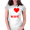 I Heart My Awesome Wife Womens Fitted T-Shirt