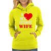 I Heart My Awesome Wife Womens Hoodie