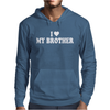 I HEART MY Brother Mens Hoodie