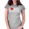 I Heart My Husband Womens Fitted T-Shirt