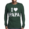 I HEART PAPA Mens Long Sleeve T-Shirt