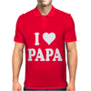 I HEART PAPA Mens Polo
