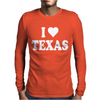 I HEART TEXAS Mens Long Sleeve T-Shirt