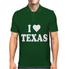 I HEART TEXAS Mens Polo
