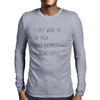 I Just Want To Do Yoga, Save Animals, and Drink Coffee Mens Long Sleeve T-Shirt