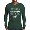 I Just Want To Drink Wine And Pet My Boxer Mens Long Sleeve T-Shirt