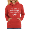 I Just Want To Drink Wine And Pet My Boxer Womens Hoodie