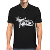I Kick It With Ninjas Mens Polo