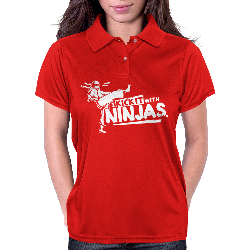 I Kick It With Ninjas Womens Polo
