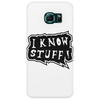 I know stuff - blk Phone Case