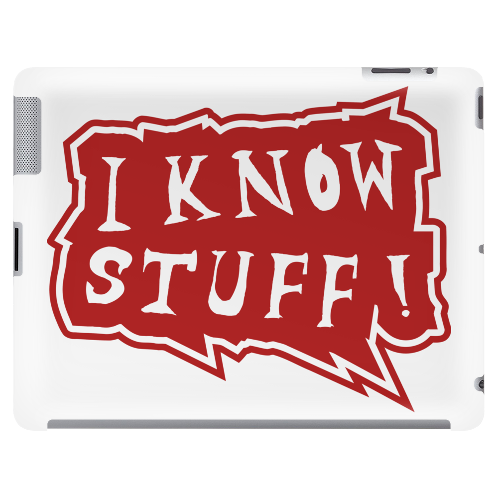 I know stuff - red Tablet
