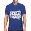 I know stuff - wht Mens Polo