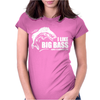 I Like Big Bass Womens Fitted T-Shirt