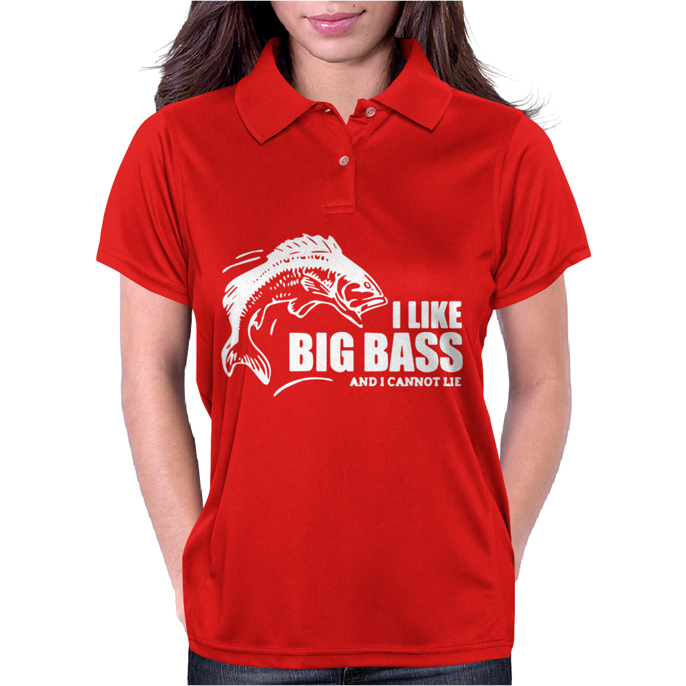 I Like Big Bass Womens Polo