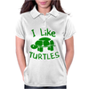 I Like Turtles Womens Polo