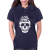 I Live In Your Face Skull Womens Polo