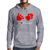 I Love Animals Mens Hoodie