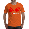 I Love Animals Mens T-Shirt