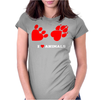 I Love Animals Womens Fitted T-Shirt