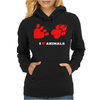 I Love Animals Womens Hoodie