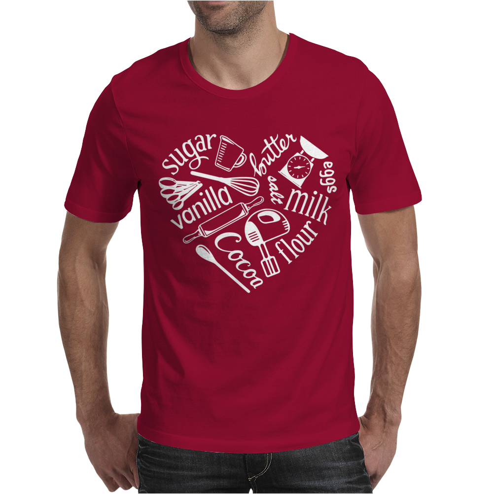 I Love Baking Mens T-Shirt