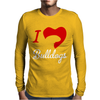 I Love Bulldogs Mens Long Sleeve T-Shirt