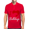 I Love Bulldogs Mens Polo