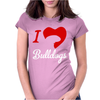 I Love Bulldogs Womens Fitted T-Shirt