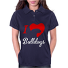 I Love Bulldogs Womens Polo