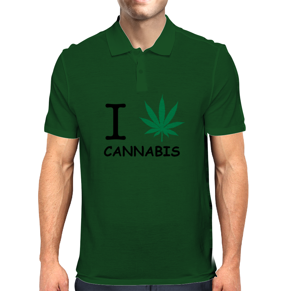 i love cannabis Mens Polo