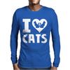 I Love Cats Mens Long Sleeve T-Shirt