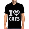 I Love Cats Mens Polo