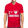 I Love Christmas Mens Polo