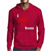 I Love Heart Bass Guitar Music Mens Hoodie