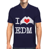 I Love Heart Edm Mens Polo