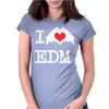 I Love Heart Edm Womens Fitted T-Shirt