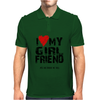 I Love Heart My Girlfriend Mens Polo