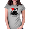 I Love Heart My Girlfriend Womens Fitted T-Shirt