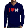 I Love Heart Women Girls Mens Hoodie