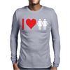 I Love Heart Women Girls Mens Long Sleeve T-Shirt