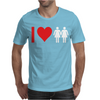 I Love Heart Women Girls Mens T-Shirt
