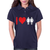 I Love Heart Women Girls Womens Polo