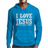 I Love Jesus But I Cuss A Little Mens Hoodie