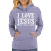I Love Jesus But I Cuss A Little Womens Hoodie