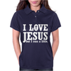 I Love Jesus But I Cuss A Little Womens Polo