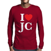 I LOVE JESUS CHRIST Mens Long Sleeve T-Shirt