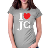 I LOVE JESUS CHRIST Womens Fitted T-Shirt